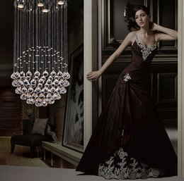 Wholesale K9 Crystals Design - Factory Price!!! Cheap Modern LED Ball K9 Crystal Chandeliers Fashionable Design Lamps Luxury Bulb Lights Hanging Wire Hotel Lighting DHL