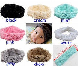 Wholesale Cross Wrap Hair - Baby Lace Cross Headbands Girls Hair Braided With Childrens Safely Cross Knot Hair Accessories Head Wrap Lovely Infant Elastic Headband