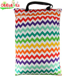 Wholesale baby printed cloth diapers - Infant Cloth Diaper Mummy Baby Bag Reusable Large Wet Dry Bag for Mom Easy to Take Cloth Diaper Nappy Bag with Zippered Pockets