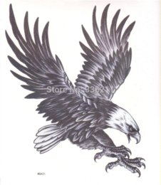 Wholesale Tattoos Eagles Designs - 3pcs Temporary large tattoo eagle designs Waterproof body painting fake tatoo stickers new drawings cool men free shippingti