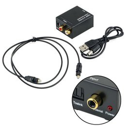 Wholesale analog digital audio converter - Optical 3.5mm Coaxial Toslink Digital to Analog Audio Adapter Converter RCA L R
