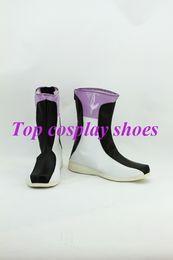 Wholesale Anime Gundam - Wholesale-Freeshipping anime Mobile Suit Gundam 00 Setsuna F Seiei cosplay Shoes Boots #GAI0159
