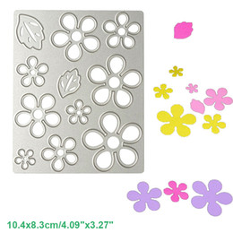 Wholesale Diy Albums - Flower Leaf Set DIY Metal Cutting Dies Stencil Scrapbook Card Album Paper Embossing Crafts