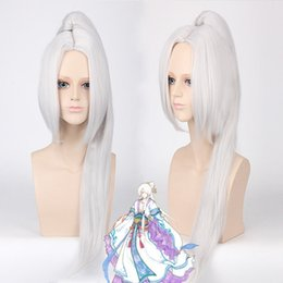 Wholesale Charm Ponytail - free shipping beautiful charming hot Vocaloid Megurine Luka Ruka Smoke Pink Anime Cosplay Split Clip wig Ponytail