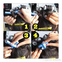 pães quentes cabelo Desconto Hot Hair Bun Criador 10 Pcs Curler Foam Bendy Twist Curls Ferramenta DIY Styling Hair Rollers Penteado Curls Styling Kit