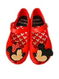 Wholesale Beach Sandal Baby - Minnie Mouse Shoes Sandals 3 Color Summer Baby Girls Boys Cute Cartoon Beach Shoes Infantil Sandalia 1-3Y B