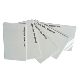 Wholesale Em Proximity Card - 125KHZ RFID Card RF proximity 0.8mm ID Thin CARD EM smart card EM4100 4102 TK4100 4102 rfid chip id cards for access control