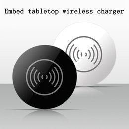 Wholesale Office Tables - 2018 Hot selling Embedded tabletops wireless charger qi table furniture wireless charger for cell phone for office use
