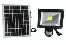 Wholesale Solar Warm White Flood Light - 10W Solar Power LED Floodlight Pir Infrared Motion Carport Security Lamp High Brightness Outdoor Waterproof Garden Flood Wall Light