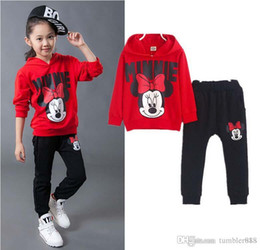 Wholesale Old Clothing Brands - Children's clothing 2016 spring and autumn baby boys and girls soprt suits long sleeves Hoodies and pants 2pcs sets for 2-7 years old b