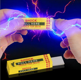 Wholesale Electric Shock Shocking - Jokes Funny Toys Electricity People Chewing Gum Shock Toys Charged April Fool Electric Shock Chewing Gum Spoof Tricky Toy batch