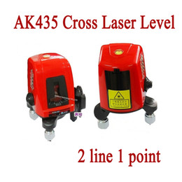 Wholesale Laser Mini Point - Wholesale-AK435 360 degree self-leveling Portable mini Cross Red Laser Levels 2 line 1 point 635nm Leveling Instrument