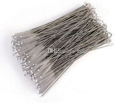 Wholesale Baby Bottle Cleaning - Straws cleaning brush Baby feeding bottles cleaning brush 17cm Stainless steel wire