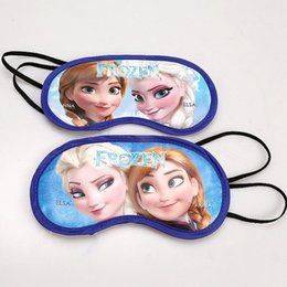 Wholesale Child Sleep Mask - Christmas Frozen Sleep Eye Mask Elsa Anna Children Vision Care 100pcs lot Sleeping Eye Mask Home Eye Patch Blinder 18.5*10cm