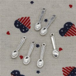 384pcs прелести кухня кулинария ложка 24 мм кулон,Тибетский Серебряный/Бронзовый / Glod кулон, для DIY ожерелье браслеты ювелирные изделия аксессуары от
