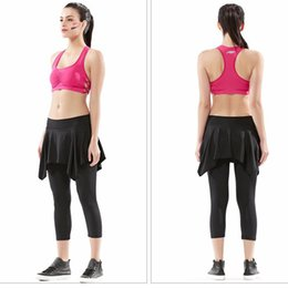 Wholesale Dance Wear Bra - Wholesale-Just Join Ladies Summer Yoga Dance Suit Cool Dry Gym Wear Bra and Pantskirt Set