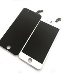 Wholesale Iphone5 Replacement - LCD touch screen digitizer fully assembled IPhone5 replacement repair parts black and white mix order free shipping factory outlets