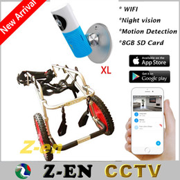 Wholesale Ip Camera Wireless Internet Card - Nanny 720 Wifi IP Camera 8GB SD Card Record Wireless CCTV Security Via Smart Phone With XL Dog Wheelchair Walk Support For Free