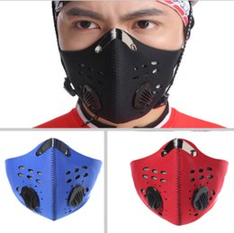 Wholesale Anti Pollution - Anti-pollution City Cycling Mask riding Mouth-Muffle Dustproof Masks Bicycle Sports Protect cycling mask face cover Protection 3 colors