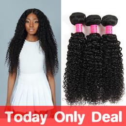 """Wholesale Curly Virgin Hair Bundle Deals - Malaysian Human Hair Curly 3 Bundles 10A Kinky Curly Hair Extensions Malaysian Kinky Curly Hair Weave 8""""-26"""" Mixed Length Weave Bundle Deals"""