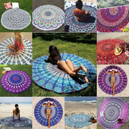 types de feu Promotion 5pcs New Summer Large Shawl 30 Types Hot Round Beach Towel Fire Peacock Mandala 150cm Serviettes de bain de plage Bohemia Style Bikini Covers