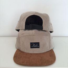 Wholesale Red Velveteen - Brand Velveteen Bobby Fitted Hat 5 Panel Baseball Cap Hip Hop Casual Outdoor Sports Five Panel Snapback Hats Cap For Men Women