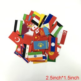 Wholesale Hats Asian - 10pcs lot each Asian countries patches for The World Cup DIY patch stickers affixed decorative accessories hat clothes