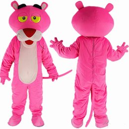 Wholesale Top Selling Adult Costumes - Top Selling The Pink Leopard Mascot Costume Leopard Cartoon Costume fancy party Dress of Adult children Size factory