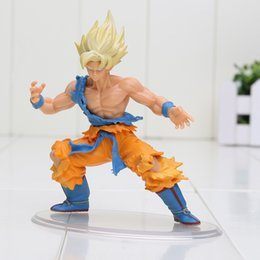 Wholesale Japanese Kid Style - Japanese Anime Dragonball Dragon ball Z Kai Styling Figurine Super Saiyan Son Goku Gokou Gifts for Kids