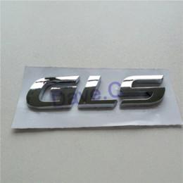 Wholesale Black Chrome Letters - Car GLS Rear Trunk Emblem ABS Chrome Plastic 3D Letter Nameplate Sticker Auto Badge Decal Cheap car emblem