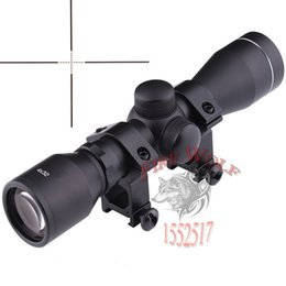 Wholesale 4x32 Rifle Scope - Hunting Optics 4X32 Airsoft Optical Rifle Scope Sight With Rail Mount Illuminated Telescopic Scope Tactical hunting sight Optical sight