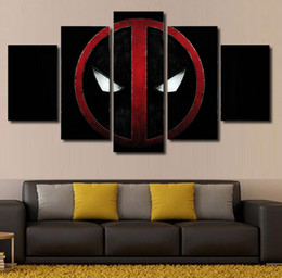 5 pcs set no framed hd printed comics deadpool painting canvas print room decor print poster picture canvas cheap paintings