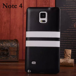Wholesale Galaxy Note Two Case - For GALAXY Note4 New Luxury Retro Two Tone PU Leather Fashion Soft TPU Back Case Cover for SAMSUNG GALAXY N9100 Note 4 N910F Bag