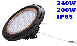 Wholesale Led Waterproof Lights China - China LED high bay light for warehouse lighting fixture 240W 200W IP65 waterproof cool white 6500K 130Lm W 5 years warranty free shipping