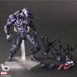 Wholesale Venom Figures - Action Figures PLAY ARTS PA reform The Avengers Marvel Venom Spiderman hand Office 28CM PCV