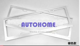 Wholesale Order Steel Frame - 1 X Universal Sliver STAINLESS STEEL METAL LICENSE PLATE FRAME FOR CAR AUTO order<$18no track