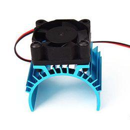 Wholesale Heat Fan Car Cooler - Aluminum Heat sink & 5V Cooling Fan for 1 10 RC Car 540 550 3650 Size Motor