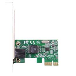 Wholesale pci e lan card - Wholesale- Gigabit Ethernet LAN PCI Express PCI-e RJ45 Network Controller Card Small plate RTL8111E chipest