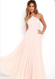 Wholesale Cheap Petite Clothing - High quality lace long bridesmaid dresses sweet pink guest clothes cheap PROM dress chiffon floor length