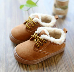 Wholesale Korean Winter Boot Male - 1-7 year-old winter Korean male and female children warm cotton shoes short boots children's soft-soled shoes Martin boots boots