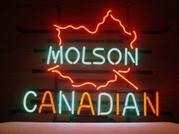"""Wholesale Molson Beer - New Canadian Molson Glass Neon Sign Light Beer Bar Pub Sign Arts Crafts Gifts Sign 19"""""""