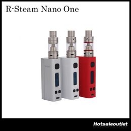 Wholesale Black Steam - Authentic SMOK R-Steam Nano One Kit 80W R-Steam Mini Box Mod 2ml Nano TFV4 Tank