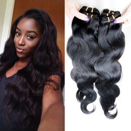 Wholesale Wholesale Weaves Extensions Malaysia - Brazilian Body Wave Hair Weaves Weft Cheap Malaysia Peruvian Hair Extensions Indian Double Weft 50g 20Bundles