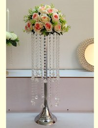 Wholesale 68 Led - New arrival 68 CM height Acrylic Crystal Wedding Table Centerpiece , flower road leads 1 lot = 10 pcs