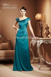 Wholesale Mother Asymmetrical Dress - Twinkle Asymmetrical Neck A line satin zip back long Mother of the bride dress Formal evening dress Plus size prom gowns