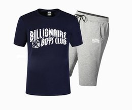 Wholesale T Pant Xl - Free Shipping BILLIONAIRE BOYS CLUB BBC T Shirts and pants Men Hip Hop Cotton O Neck billionaire summer short sleeve