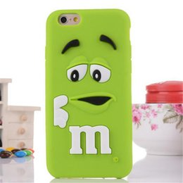 Wholesale Cute Silicone Lg Phone Cases - Cute Cartoon Cell Phone Cases M&M Chocolate Rainbow Bean with Soft Silicone for iphone6 6S Samsung G530 LG G3