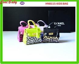 Wholesale Shop Leopard Print Handbags - New Fashion Princess Girls Leopard Big Handbag Messenger Bag Luxury Shopping Bag For Kids Pu Hand bag 18x13x7cm 5colors HNB115