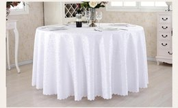 Wholesale Waterproof Restaurant Tablecloths - Hotel Restaurant Tablecloth With Wash Gold Restaurant Meeting Sarong Round Table Cloth 180cm More color White Hot Selling