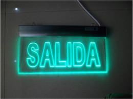 Wholesale Ac Indicator Led - 2017 Hot Sale Flag lamp, double headlamp, safety exit sign lamp, evacuation indicator light Aluminum alloy LED billboard